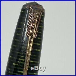 1941 Goe Parker Vacumatic Fountain Pen Gold Original Vintage Rare