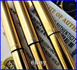 24kt Gold Plated Parker 25 Fountain Jotter Writing Pen Pencil Set Vintage Gift