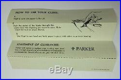 3 PARKER 45 FOUNTAIN PEN SETS with CLIPITS Vintage BOXED UNUSED