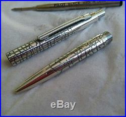 3 vintage sterling silver ballpoint pen for collectors parker and pilot