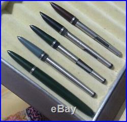 5 Pc Parker 51 Fountain Pen Parts Nib And Converter Vintage