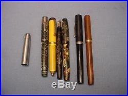 6 Vintage Fountain Pens Parts or Repair Parker, Sheaffer, Waterman