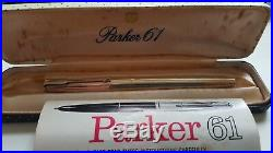 6 Vintage PARKER 61 FOUNTAIN PENS various colours