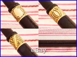 Antique Vintage Parker Lucky Curve 6 Black Hard Rubber Eyedropper Fountain Pen