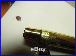 Beautiful Vintage Rare 14 Carat Gold Parker Vacumatic Fountain Pen