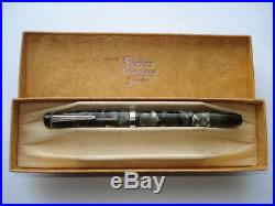 C1930s Vintage Parker Televisor Junior Mkii Grey Marble Slender Pen&original Box