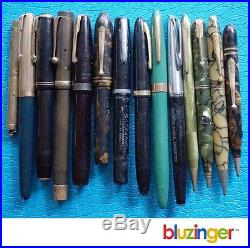Estate Vintage Pen & Pencil Lot Parker Waterman Sheaffer no reserve auction