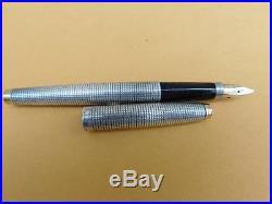 Excellent Vintage Parker 75 Sterling Silver Cisele Fountain Pen 14 K Nib