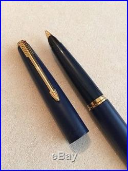 Extremely Rare Vintage Parker 45 Tx Gt Medium Nib Fountain Pen-superb