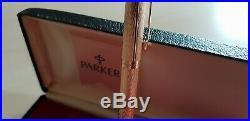 Extremely Rare Vintage Parker 75 Chevron Solid Gold 18k Ballpoint