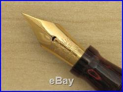 Gorgeous Vintage Conklin Endura Fountain Pen, Flexible Nib, Ripple RHR, Big