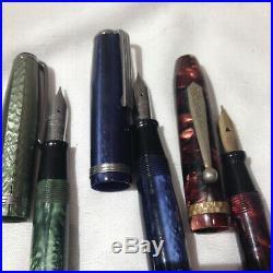 Lof of Vintage Fountain Pens Parker, ETC