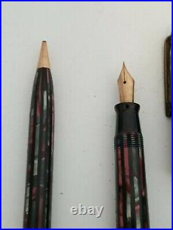 Lot (2) Vintage Parker Duofold Fountain Pens! Rare! Color Inlay! Selling As Is