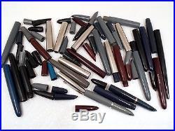 Lot #28 Vintage PARKER Fountain Pen Parts PARKER 51 Parts CAPS BARRELS HOODS