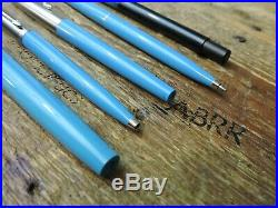 Lot 5 BLUE Vintage Parker Ballpoint Big Red Systemark Jotter Desk Pen Vector USA