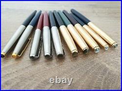 Lot of 10 Vintage PARKER Fountain Pens 61/51/45