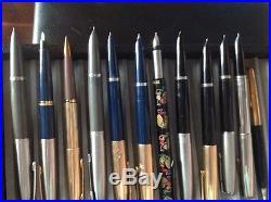 Lot of 11 Vintage Parker Fountain Pens, and 1 Parker pencil