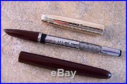 Nice Vintage 1949 Burgundy Parker 51 Aerometric Fountain Pen, Restored