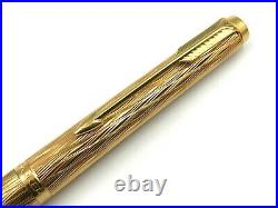 NICE VINTAGE c1980 PARKER 180 ECORSE BARK GOLD PLATED FOUNTAIN PEN 14K XF-M