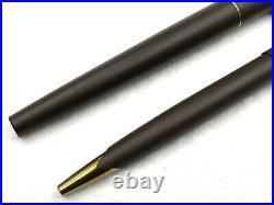 NOS VINTAGE c1980 PARKER 50 FALCON MATTE BROWN EPOXY FOUNTAIN PEN BALLPOINT SET