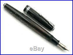 Nice Vintage 1940 Parker Silver Pearl Vacumatic Long Major Dj Fountain Pen 14k