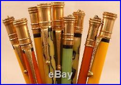 Nine Working Vintage Parker Pencils, Lady & Junior Duofold & Pastel, Lot #47