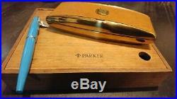 PARKER 51 Original Fountain Pen case Wood Box Set of 2 Vintage