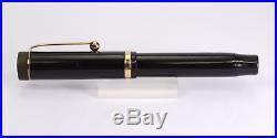 PARKER Duofold Junior Black Vintage Fountain Pen 1920's One Ring BIG IMPRINT