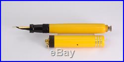 PARKER Duofold Lucky Curve Lady Mandarin Yellow Vintage Fountain Pen 1920's