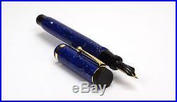 PARKER Duofold Senior Flat Top Lapis Blue Vintage Fountain Pen Boxed 1920's