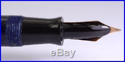 PARKER Duofold Senior Streamline Lapis Blue Vintage Fountain Pen 1930's USA
