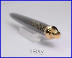 PARKER Princess Jotter Black & Gold Chased Vintage Ballpoint Pen 1960's RARE