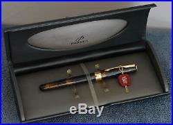 PARKER SONNET Chinese Laque Vison Foncé Rare Vintage Fountain Pen, 18K Fine 1994