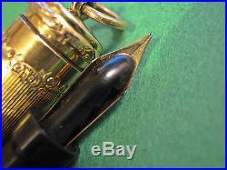 Parker 49 Lucky Curve Fountain Pen Gold Fild Overlay vtg Jack Knife Safety