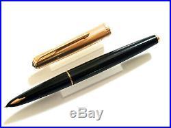 Parker 61 Black/rolled Gold Fountain Pen Vintage