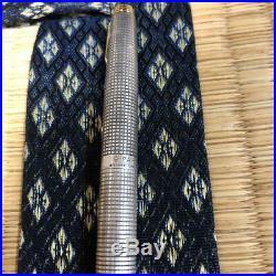 Parker 75 Sterling Silver cisele fountain pen nib 14K XF 1970s Vintage
