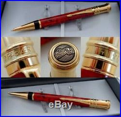 Parker DUOFOLD 1996 Pen Amber Gold Plated 18K Vintage