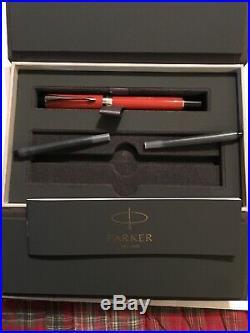 Parker Duofold Centennial Classic Big Red Ct Vintage Fountain Pen 18k Fine Nib