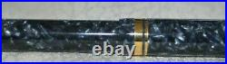 Parker Duofold Centennial MKI Blue Marble 18K EF Nib Fountain Pen Vintage 1990's