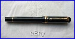 Parker Duofold Centennial MKII Black Vintage Fountain Pen Gold Tims F 18k Nib