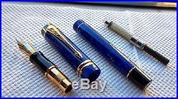 Parker Duofold Centennial Vintage Fountain Pen Lapis Lazuli GT New 18k