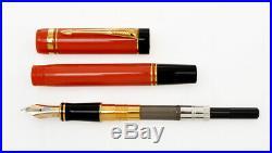 Parker Duofold International vintage Orange Red fountain pen new pristine in box