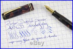Parker Duofold Senior streamline flex nib 1930s vintage celluloid fountain pen