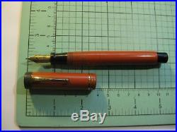 Parker Duofold orange Gold Nib vintage fountain pen Big Red double rings old