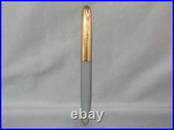 Parker Vintage 51 Gray Gold Cap Fountain Pen works-fine point-1944