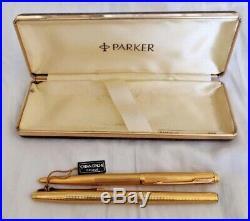 Parker Vintage 61 22K Gold Electroplate Ball Pen And Pencil Set