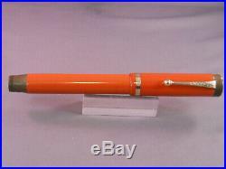 Parker Vintage Big Red Senior Duofold Fountain Pen-Signature Stub Nib
