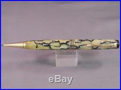 Parker Vintage Black and Pearl Senior Streamline Duofold Pencil