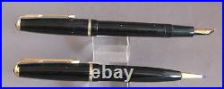 Parker Vintage French Duofold Set in box-black-18k nib-fine point