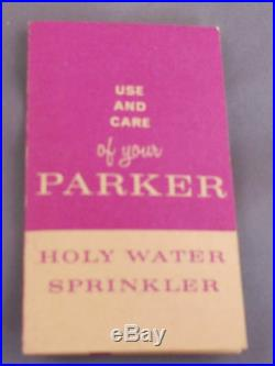 Parker Vintage Holy Water Sprinkler in original box with instructions-Gold Cap